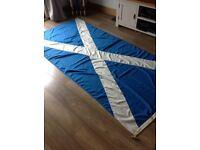 Huge Scottish St. Andrews Saltire Flag Sewn 135cm by 270cm