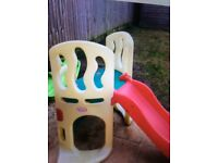 Little tikes climb and hide climbing frame and slide