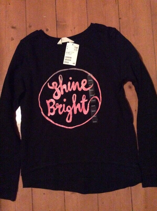 Brand New With Tags Girls Sweatshirt Age 12/14 Years