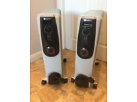 Radiators 2.5KW oil filled x2 (Can Deliver)