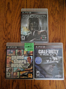 COD: Ghosts, GTA 5, Dishonored (will sell individually)