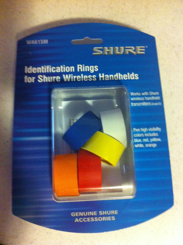 New Shure WA615M Colored Handheld Transmitter ID Rings for T, UT, LX, ULX, UC