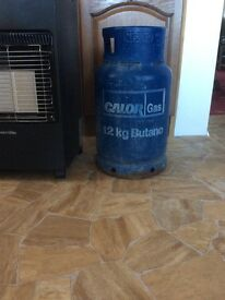 Gas heater fire and full gas bottle
