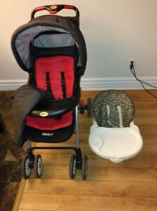 Great condition safety 1st stroller and high chair!