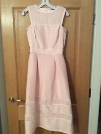 Ladies blush pink warehouse dress