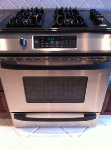 A Kenmore Elite Gas Stove Top and Convection Oven