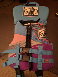 Pfd Life Vest Body Glove children 30-60 lbs, used once