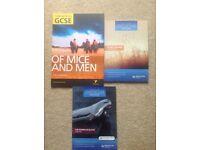 3 x GCSE English literature revision guides