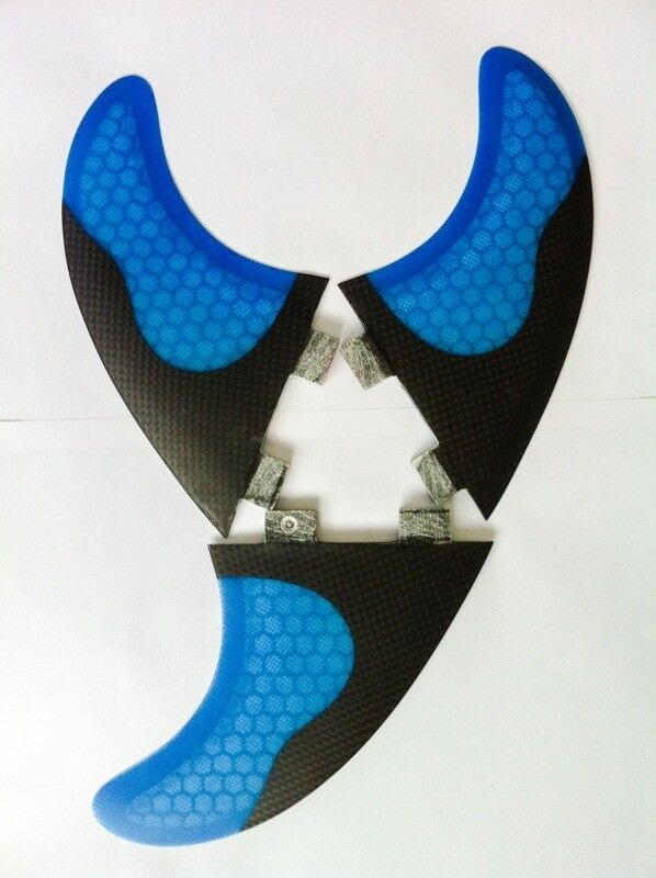 Surfboard Fins Half Carbon & Honeycomb G5/M5 Template New! Set of 3 FCS Compatible surf fins Hexcore