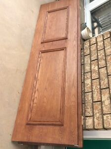 2 Solid Oak Veneer Doors 24x80""