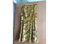 Beautiful dress, Oasis, new, butterfly pattern yellow