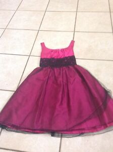 size 14 pink and black special occasion dress