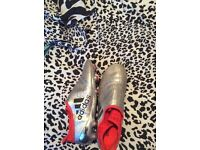 Size 10 ADIDAS PURECHAOS SILVER AND RED