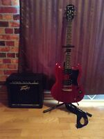 Peavey Rage 158 and Epiphone SG Special
