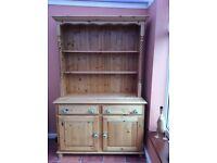 Pine Welsh Dresser- barley twist columns