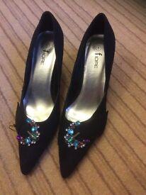 Fiore black ladies shoes
