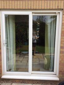Patio doors (sliding) and window