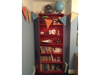 Red Ikea Billy Bookcase