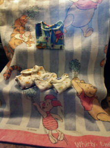 Winnie the Pooh Matching Onesies & Blanket + Swaddle Wrap