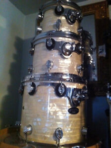 PDP CX series DW TOMS - White Onyx - hard Maple - Shell pack set