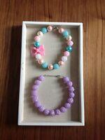 bubble gum toddler necklace