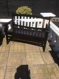 Heavy solid good garden bench
