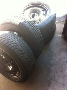 4 WINTER TIRES-GISLAVED NORD FROST 195/65/15 on 5x100mm