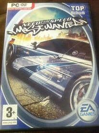 PC DVD Need for Speed Most Wanted Game