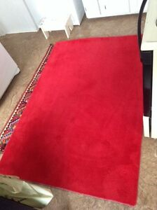 Area rugs, bright red 50$