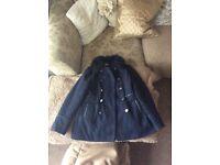 Girls navy blue coat £2 10-11