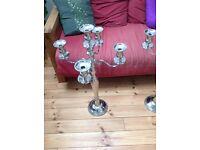 5 arms candelabra in chrome aluminium