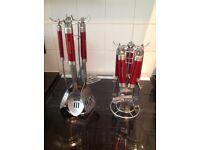 Morphy Richards Utensil Stands & 3 Storage Jars