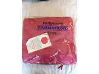 pink wool blanket by Earlywarn Warmbound made in Witney England Charles Early & Marriott Witney New