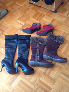 1 pair of shoes plus 2 pair of boots