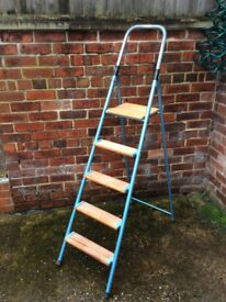 Vintage Industrial 5 Step, Step ladder