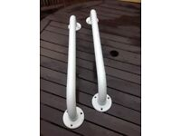 Two safety support white ramps
