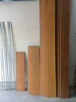 Shelving and brackets for sale (used)