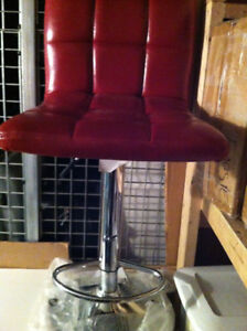 Bar Stool New red, adjustable hight, leatherette