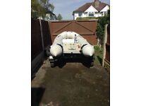 Inflatable Rib & road trailer