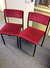 Red chairs(27 available) £3 each