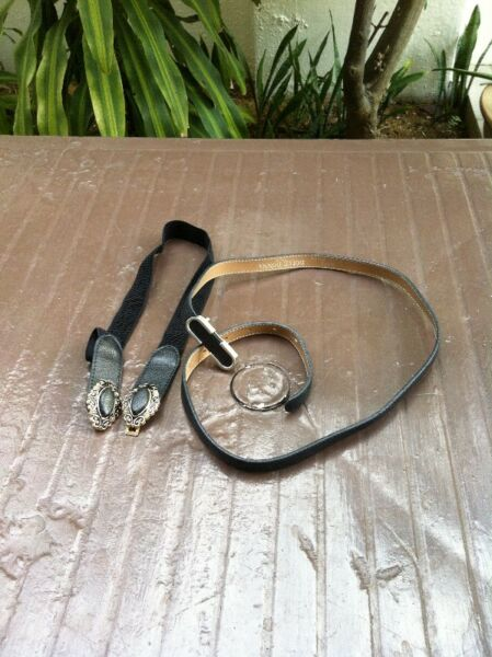 Two belts  in good condition.