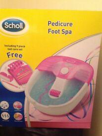 Foot Spa. Scholl pedicure foot spa unused.