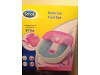 Foot Spa. Scholl pedicure foot spa unused.