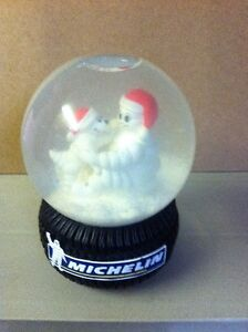 Michelin Man Tire Musical Snow Globe Limited Edition 2004
