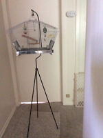 Small bird cage with stand