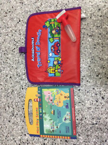 Travel toy book and travel mat