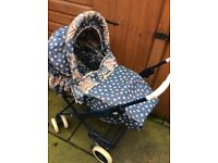 Maclaren 1990's Chamade 3 in 1 pram pushchair from birth to toddler