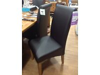 Pair of new brown dining chairs