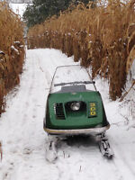 Vitage John Deere sled will not last long