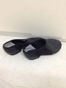 Black leather jazz shoes.